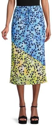 Central Park West Animal-Print Drawstring skirt