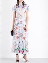 Temperley London Long Sail embroidered tulle gown