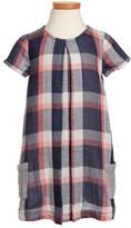 Tucker + Tate Toddler Girl's Plaid Cotton Shift Dress