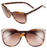 Marc Jacobs Women's 56Mm Butterfly Sunglasses - Black