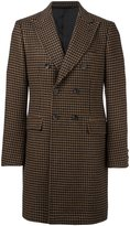 Tonello double breasted houndstooth coat