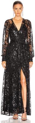 Alexis Biata Dress in Beaded Black | FWRD
