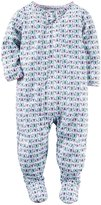 Carter's Graphic Butterflies Footie (Toddler) - Print - 2T