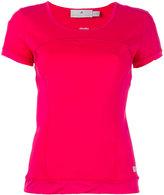 adidas by Stella McCartney logo print T-shirt - women - Spandex/Elastane/Recycled Polyester - XS