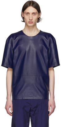 Paul Smith Navy Leather T-Shirt