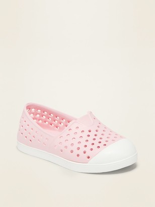 Old Navy Perforated Pop-Color Slip-On Sneakers for Toddler Girls