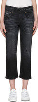 R 13 Black Straight Boy Jeans
