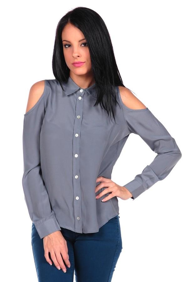 Romeo & Juliet Couture Woven Shirt w/Cold Shoulder