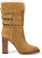 Sigerson Morrison Shearling-lined suede boots