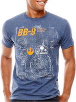 Star Wars STARWARS Force Awakens Short-Sleeve Astro Schematic T-Shirt