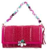 Tibi Embellished Embossed Bag