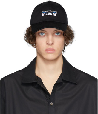 Martin Asbjorn Black Boring Cap
