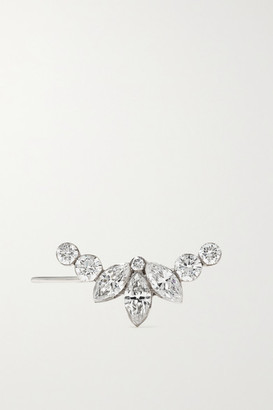 Maria Tash Lotus Garland 18-karat White Gold Diamond Earring - L