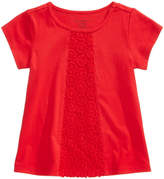 First Impressions Crochet-Detail Cotton T-Shirt, Baby Girls, Created for Macy's