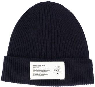 Eleventy Logo Patch Beanie Hat