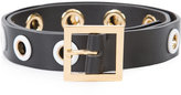 Carolina Herrera thin grommet belt - women - Lamb Skin - L
