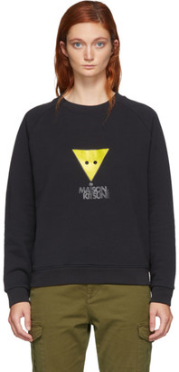 MAISON KITSUNÉ Black Triangle Fox Sweatshirt