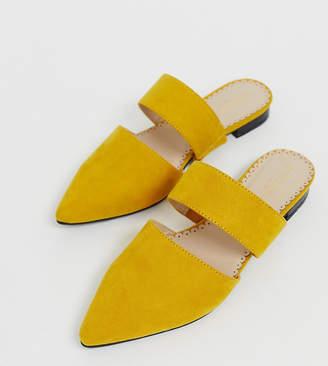 Accessorize leather mustard slip on flat mule-Yellow