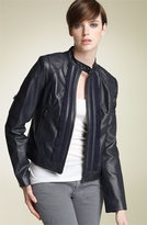 Black Label 'Greenwich' Leather Jacket