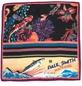 Paul Smith Hawaiian Black Koi Pocket Square