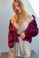 Urban Outfitters Danielle Metallic Cinch Romper
