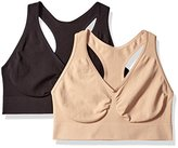 Hanes Women's Plus Size Ultimate Comfy Support Wirefree 2 Pack