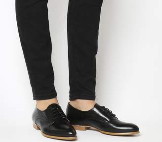 Office Reach Softy Lace Ups Black With Rose Gold Trim
