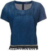 7 For All Mankind tassel detail denim top - women - Cotton - XS