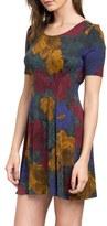 RVCA Sylas Floral Print Knit Dress