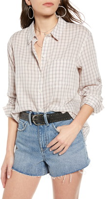 Treasure & Bond Oversize Plaid Shirt
