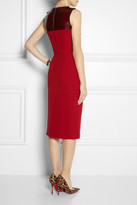 Burberry Sleeveless silk-crepe and PVC dress