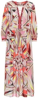 Emilio Pucci Beach Printed cotton maxi dress