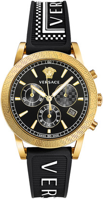 Versace Tech 40mm in IP Yellow Gold & Black Dial | FWRD
