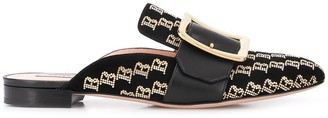 Bally low heel monogrammed mules