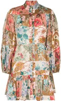 Thumbnail for your product : Zimmermann Cassia patchwork-design dress
