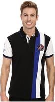 U.S. Polo Assn. Vertical Stripes Color Block Pique Polo