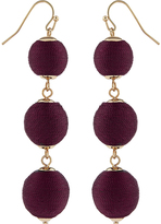 Accessorize Thread Wrapped Ball Statement Earrings