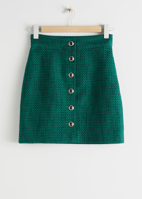 And other stories Tailored Geometric Woven Mini Skirt