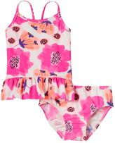 Osh Kosh Toddler Girl Pink Floral Tankini Top & Bottoms Swimsuit Set