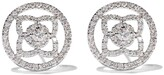 De Beers 18kt white gold Enchanted Lotus openwork diamond stud earrings