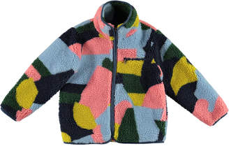 Stella McCartney Girl's Plush Colorblock Jacket, Size 4-14