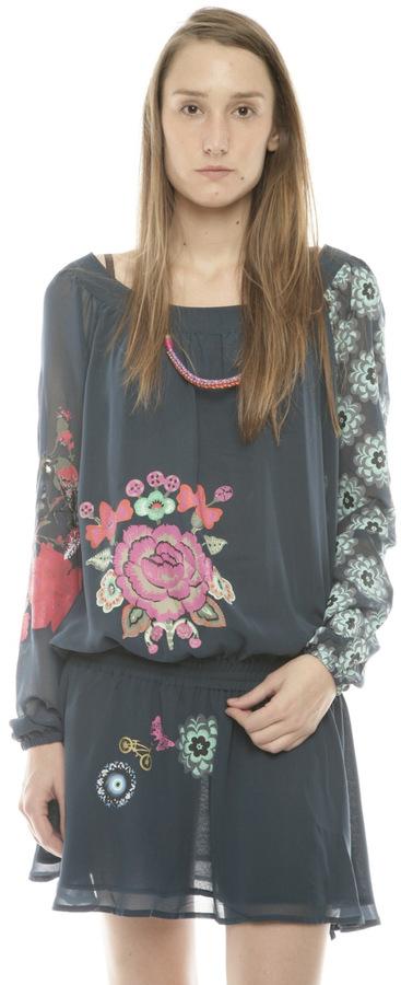 Desigual Blus Shivare Floral Tunic