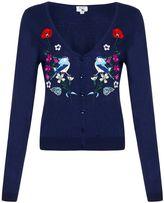 Yumi Floral Bird Embroidered Cardigan