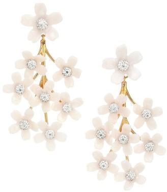 Lele Sadoughi Garden Bouquet Crystal Chandelier Earrings