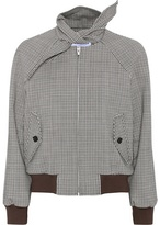 Balenciaga Stretch-wool bomber jacket