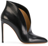 Francesco Russo asymmetric upper stiletto pumps
