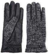 c-lective Tweed & Leather Touch Screen Gloves