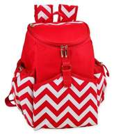 Picnic at Ascot Insulated Backpack Cooler in Red Chevron