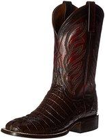 Lucchese Classics Men's Landon-Barrel Brown Hrnbk Caiman Tail Riding Boot