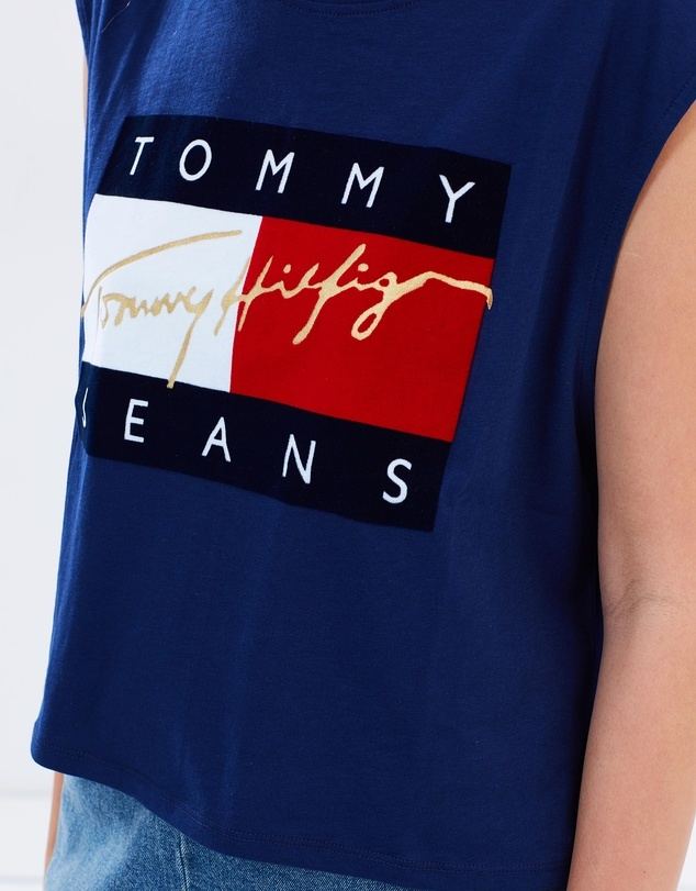 Tommy Hilfiger 90s Flock Cropped Tank